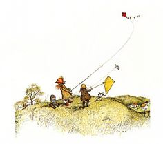 Holly Hobbie, flying kites