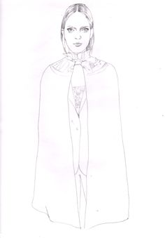 valentino back stage sketch elise pellican