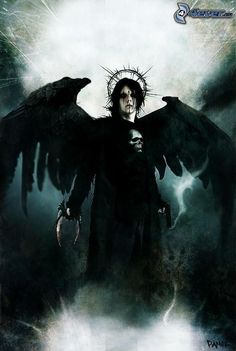 Ange noir, crâne