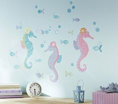 Seahorse Decal   Pottery Barn Kids