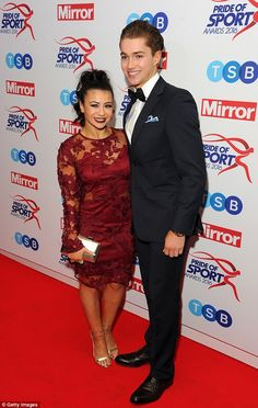 Glam night out:Claudia Fragapane took a night off from the Strictly training room on Wednesday to attend the Pride of Sport Awards with her dance partner AJ Pritchard