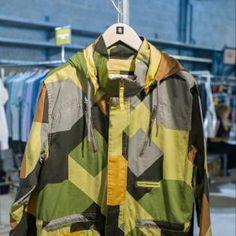 #supremebeing #camouflage #jacket #geometric #menswear