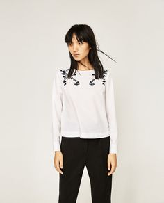 EMBROIDERED POPLIN TOP-View all-TOPS-WOMAN | ZARA United States