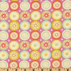 Kumari Garden Sanjay Pink From @fabricdotcom Designed By Dena Designs For  Free Spirit, This Cotton Print Fabric Features A Paisley And Floral Desiu2026