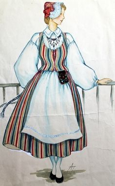 Folk Costume, Costumes, Dress Illustration, Tractor Pulling, Textiles, The Shining, Traditional Dresses, Ancestry, Folklore