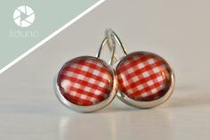 Cabochon Ohrringe rot weiß kariert von liduno auf DaWanda.com Drop Earrings, Etsy, Nice, Jewelry, Red Earrings, Schmuck, Jewlery, Bijoux, Drop Earring