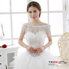 2015 Stunning Chain Shoulder Crystal Wedding Wraps Exquisite Rhinestone Beading Wedding Formal Pageant Bridal Accessories Summer Fashion From Engerlaa, $59.48 | Dhgate.Com