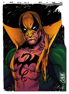 Iron Fist Colors by on DeviantArt Comic Movies, Comic Books Art, Comic Art, Book Art, Marvel Comics Art, Marvel Vs, Marvel Comic Character, Marvel Characters, Sketch Instagram
