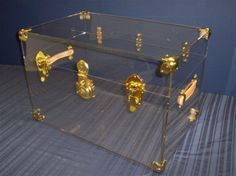 Catalog of Trunk Displays - Acrylic Display Manufacturing clear trunk as a night stand