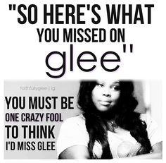#Glee... I DON'T miss Glee lol