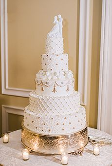 white gold 5 tier cake - Penelusuran Google