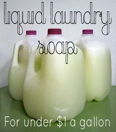 How To Make Liquid Laundry Detergent For $1 A Gallon...http://homestead-and-survival.com/how-to-make-liquid-laundry-detergent-for-1-a-gallon/