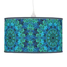 """Ocean #mandala pattern pendant #lamp -- from Waving Flames -- """"WOWIE, ZOWIE!"""" thinks Auntie Shoe."""