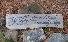 Old style meets high tech!   Handpainted wood sign: www.yeoldesignshoppe.net