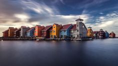 Groningen, the largest city in the north of the Netherlands, is home to many colorful houses.