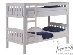 America Whitewash Shorty Bunk Bed | FREE next day delivery from BedzRus