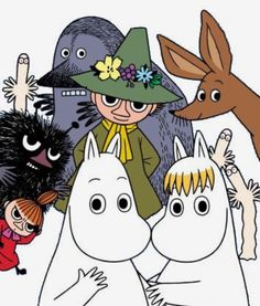 All things moomin. Little My Moomin, Les Moomins, Yule, Moomin Valley, Tove Jansson, Children's Book Illustration, A Comics, Cartoon Characters, Fairy Tales