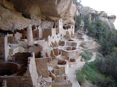 Another view of the Cliff Palace at Mesa Verde.
