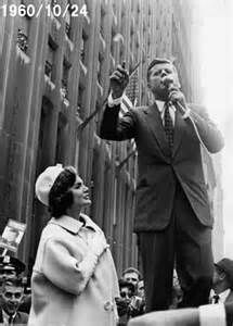 1960. 19 Octobre. Jack and Jackie. New York