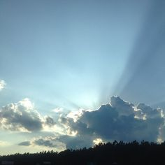 Fluffy clouds make me swoon (Sunset) / June 15th 2014