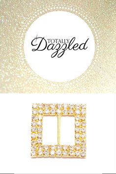 This gold and rhinestone slider buckle is just $1.50! See what else we have to offer for your special event at totallydazzled.com today! Your satisfaction is guaranteed!