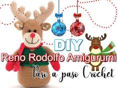 Cómo tejer Reno Rodolfo amigurumi patrón gratis paso a paso