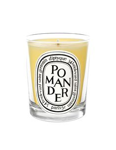 Pomander Diptyque candle.  Notes: spicy.  This warm and comforting candle from Diptyque is inspired by the scent of delicious orange studded with cloves and cinnamon.  Made in France.