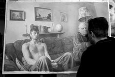 these drawings look like real photographs. Amazing talent! Paul Cadden working on a drawing. The hyperrealist artist creates hand drawn images that look like black and white photographs.   (Paul Cadden / Solent News / Rex Features)