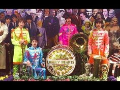 ♫ The Beatles the cover photographs for Sgt Pepper's Lonely Hearts Club ...