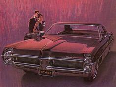 1967 pontiac bonneville | Artwork of a 1967 Pontiac Bonneville by GM's Fitz and Van from a GM ...
