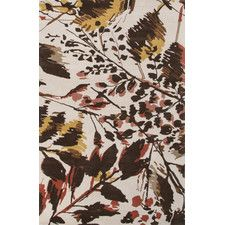 En Casa Gray/Orange Floral Area Rug