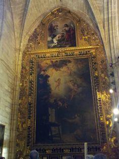 Visión de San Antonio de Padua de Murillo, Catedral de Sevilla. Pulse la foto para ver alojamientos en Sevilla