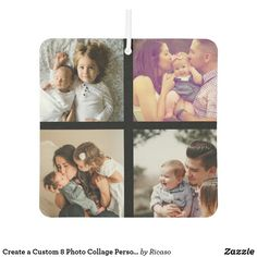 Create a Custom 8 Photo Collage Personalized Air Freshener Personalized Products, Customized Gifts, Air Freshener, Design Your Own, Create Your Own, Collage, Cards, Personalized Gifts, Collages