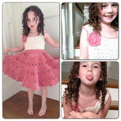 Annoo's Crochet World: Little Girl Vintage Dress Free Pattern ( looks easy) Crochet Baby Dress Pattern, Crochet Baby Clothes, Crochet Lace, Crochet Patterns, Crochet Dresses, Crochet Ripple, Crochet Designs, Crochet Toddler, Crochet For Kids