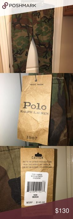 POLO RALPH LAUREN Sullivan Slim Jeans 36x34 NEW! POLO RALPH LAUREN Sullivan Slim Jeans 36x34 NEW! Camo Print Sold Out Everywhere! New With Tags Polo by Ralph Lauren Jeans Slim