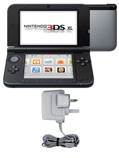 Nintendo 3DS XL Silver and Black Console
