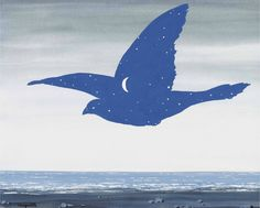 René Magritte - Le baiser, 1957.