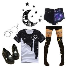"""""""..."""" by naegis ❤ liked on Polyvore featuring ZeroUV and Retrò"""