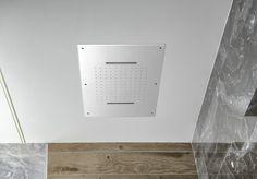Stropní sprcha do podhledu se dvěma kaskádami, 560x400mm, leštěný nerez : SAPHO E-shop Program