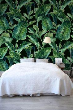Banana leaf muur muurschildering bananen bladeren