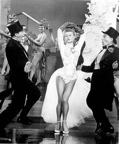 "Danny Kaye, Vera Ellen, and Bing Crosby in ""White Christmas."""