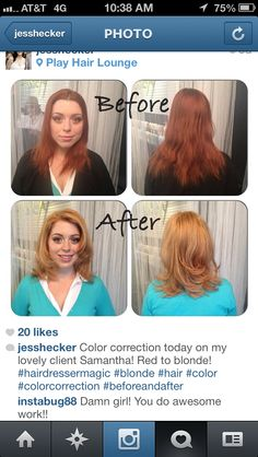 I LOVE this makeover by @Jessica Hecker of @p!ay hair lounge on her guest, Samantha!