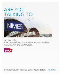 Nouvelle campagne de la SNCF, partenaire du festival de Deauville via @LaRéclame