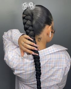 Hair Ponytail Styles, Ponytail Hairstyles, Men Blonde Hair, Beautiful Black Girl, African Braids Hairstyles, Aesthetic Hair, Black Girls Hairstyles, Hair Extensions, Natural Hair Styles