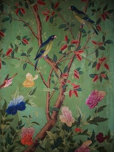 Chinoiserie Wallpaper with Birds   Most Chinoiserie wallpapers feature beautiful birds.