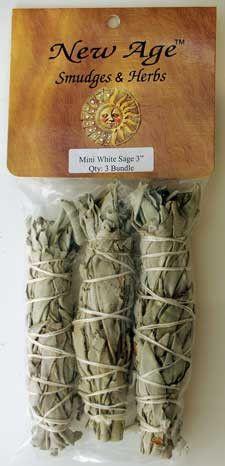 "White Sage smudge stick 3pk 3"""