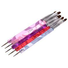 Marbleizing Pen UV Gel Polish Nail Art Dotting Brush Pen Builder Liner Design Tool for Acrylic Nail Brushes Nail Brushes, Uv Gel Nails, Brush Pen, Professional Makeup, Nail Art, Image Link, Beauty, Amazon, Amazons