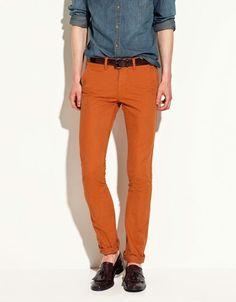 Zara pantalón naranja