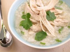 Chinese-style Rice Soup with Chicken and Ginger from FoodNetwork.com