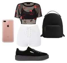 """Happy Sunday everybody!!🌼☀️"" by thechicsizzler1 on Polyvore featuring Topshop, Puma, MANGO and Belkin"